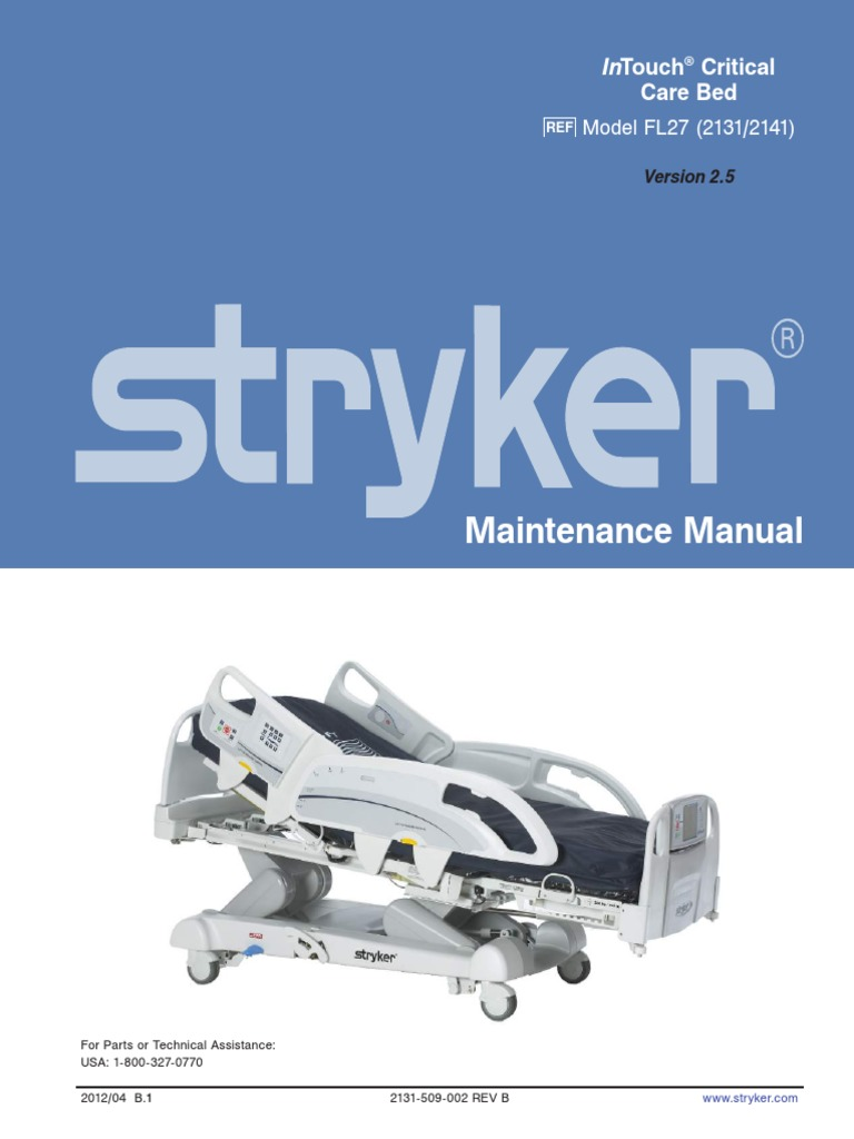 Stryker InTouch Maintenance Manual Rev1 20-10-14 Part1 | Mains Electricity  | Electrical Connector