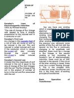 Principle of Operation of Transformer