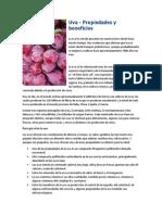 Uva-propiedades y Beneficios