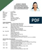 resume - lita may o  lubuguin