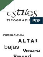 estilos tipograficos
