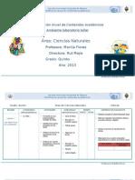 Planificación Anual de Ciencias Naturales Quinto Grado
