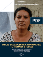 Multidisciplinary Approaches to Romany Studies