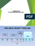 Administrasi GFATM Komponen Malaria