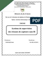 Système de supervision des réseaux de capteurs sans fil