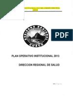 PLAN OPERATIVO INSTITUCIONAL 2013 SALUD REGION CUSCO