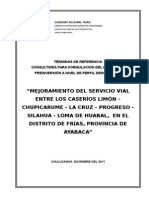 TDR Final Carretera Limon, Loma de Huabal, Chupicarume