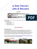 Vet State Benefits & Discounts - ME 2015