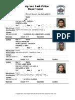 Evergreen Park Arrests, June 5-June 14, 2015