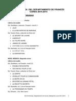 Departamento de Francés- Lecturas Recomendadas 14-15