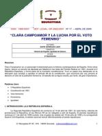 Clara Campoamor y El Voto Femenino en España
