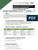 Plano de Gerenciamento de Aquisições (Procurement Management Plan)