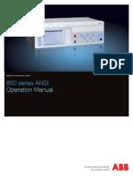 1MRK500096-UUS - En Operation Manual 650 Series 1.3 ANSI