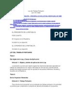 Ley Nº 27866 - Ley Del Trabajo Portuario