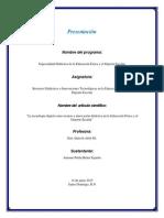 Recursos Didacticos e Innovacion Tecnologica de Educacion Fisica y El Deporte Escolar