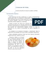 Elaboración de Conservas de Frutas