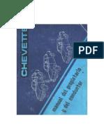 Chevrolet Chevette Manual Del Propietario y Del Conductor