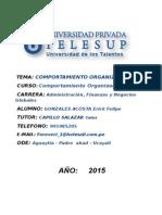 Comportamiento Organizacional.gonzales Acosta Erick Felipe