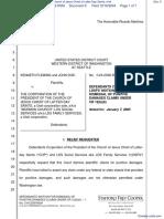 R.K. v. Corporation of the President of the Church of Jesus Christ of Latter-Day Saints, et al - Document No. 9