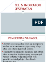 Dr. Fachrudi-Variabel & Indikator Kesehatan