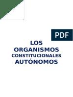 Los Organismos Constitucionales Autónomos