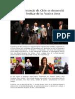 Con Gran Presencia de Chile Se Desarrolló El Segundo Festival de La Palabra Lima 2015