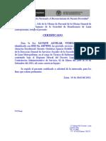Certificado de Lluque