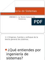 La Teoría General de Sistemas (TGS)