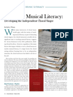 Teaching Music Literacy - Developing the Independent Choral Singer (Choral Director Magazine)