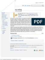 Expository Writing - Wikipedia, The Free Encyclopedia