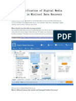 The Specification of Digital Media Recovery in Minitool Data Re