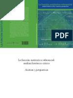 La Funcion Sustitutiva Referencial. Analisis Historicocritico. Avances y Perspectivas