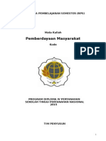 Rencana Pembelajaran Semester Pemberdayaan Masyarakat 23 Februari 2015