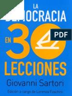 Sartori - La Democracia en 30 Lecciones