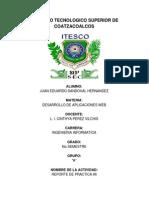 REPORTE DE PRACTICA ITESCO