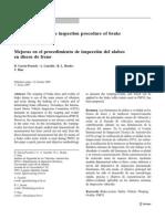 Mejoras en El Procedimiento de Inspeccion de Alabeo en Discos de Freno