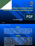 DMTU y El Tránsito y Transporte - FINAL
