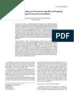 Difi cultades pragmáticas en el trastorno específi co del lenguaje. El papel de las tareas mentalistas
