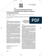 Contenido de Aluminio en Componente Individuales Utilizados Para Preparar Mezclas de Nutricion Parenteral en Argentina