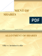 Allotment of Shares