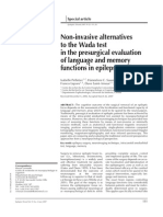 Non-invasive alternatives to the Wada test in the presurgical evaluation of language and memory functions in epilepsy patients