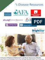 Alzheimer's Disease Resources