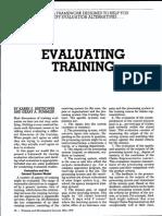 26. Evaluating Training2