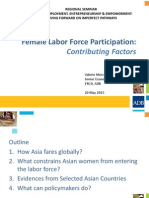 Female Labor Force Participation in the Asia and the Pacific