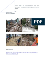 Perfil de Proyecto Para El Encauzamiento Del Rio Huaycoloro Distrito de Lurigancho