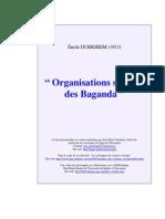 Émile Durkheim - Organisations Sociales Des Baganda (1913)