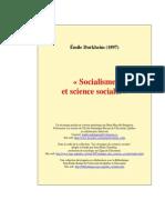Émile Durkheim - Socialisme Et Science Sociale (1897)