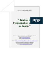 Émile Durkheim - Tableau de l'Organisation Sociale Au Japon (1902)