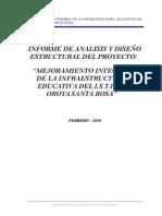 Informe de Calculo Estructural Final Instituto