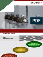 Wirtschaftlichkeit VoIP IT-AK CC-LAN 2006-06-21